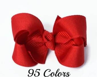 Red Hair Bow, Girls Hair Bows, Baby Hair Bows, Boutique Bows, Baby Bows, Hair Bows, Toddler Hair Clips, Hairbows, Hair bows for Babies, 200
