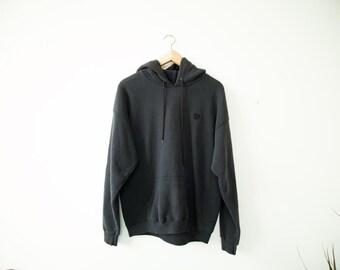Vintage 1990's Olympic USA Black Hooded Sweatshirt Hoodie Mens Large
