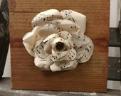 Vintage Sheet Music Rose Art- Wood Block with Sheet Music Flower - Musical Decor - Piano Sheet Music Art - Gift for Musician - Piano Art