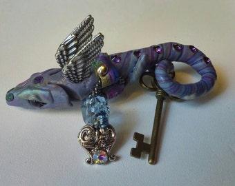 Steampunk Dragon Brooch