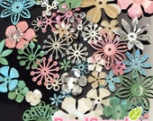 FG-FG-090S- Nickel free, Color enameled, Sampler set of flower filigree, spring mix, 48 pcs