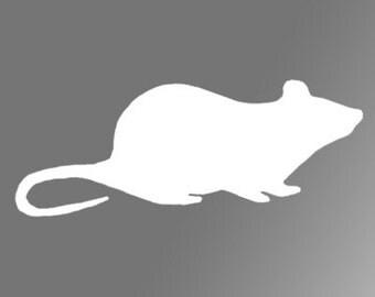 Rat Silhouette Vinyl Decal