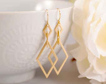 The Martina Earrings - Gold