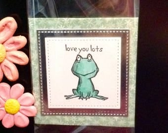 Cute Frog Fridge Craft room Magnet gift idea