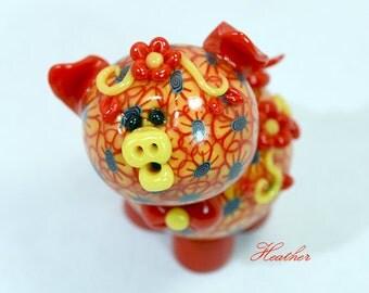 Heather Polymer Clay Piglet