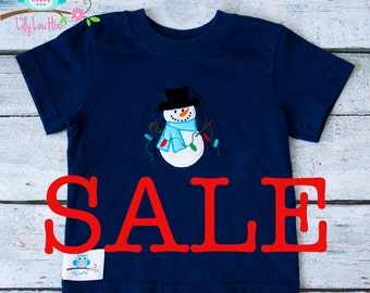 SALE! Snowman Embroidered T-shirt, size 12 months