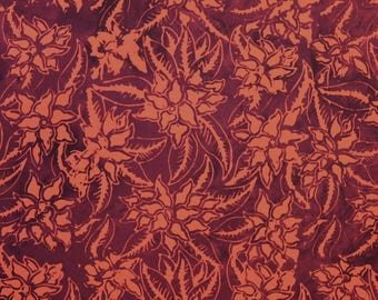 Batik By Mirah Fabric Tea Four Two Bali Hand-dyed Quilting Sewing Crafting