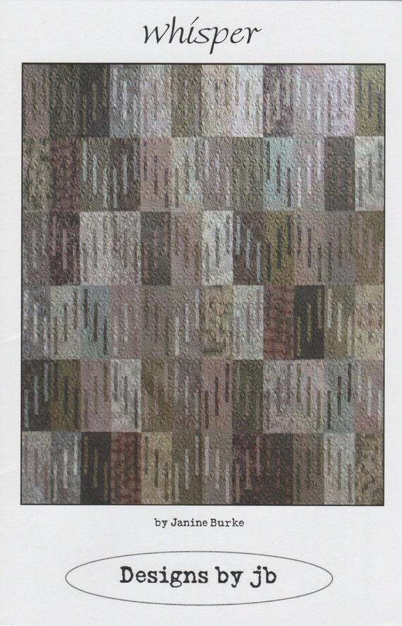 Whisper Quilt Pattern Janine Burke Designs by JB Quilting, DIY ... : jb quilting - Adamdwight.com