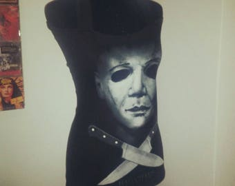 Michael Myers - Halloween - Horror - Ladies handmade halter top - available in many sizes
