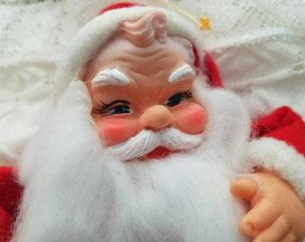 Vintage, Santa, Christmas, Japan, plastic