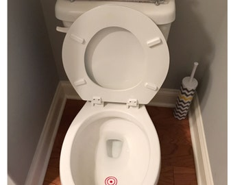 Toilet Target Decal - Toilet Target Sticker for Little Boys - Aim Decal - Target Aim Sticker - Potty Training Sticker - Potty Training Decal