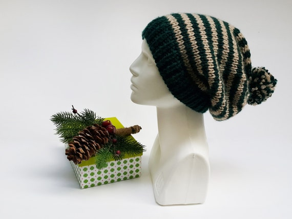 Womens Winter Beanie, Hand Knit Gift Hat, Gift Chunky Hat, Beanie Chunky Crochet, Knit Christmas Hat, Unique Big Beanie, Fashion Knit Beret