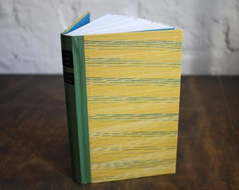 "Upcycled Diary Tartuensis Classic ""Yellow"" from old book covers"
