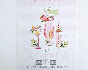 COCKTAIL SUMMER PARTY Invitations