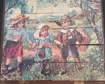Victorian Litho Wooden Puzzles