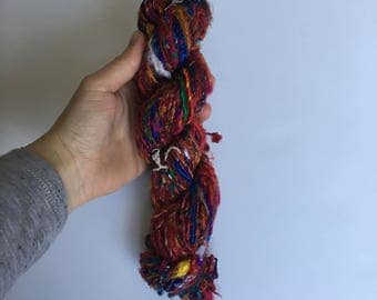 Multicolor Banana Fiber Yarn - Art Yarn - Handmade, Eco-Friendly & Socially Responsible - 1 Skein