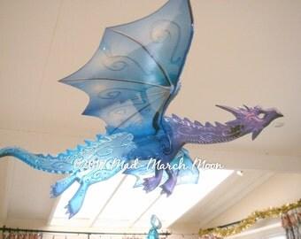 Huge Single Dragon Mobile, transparent colour Hanging dragon, 12 colours available