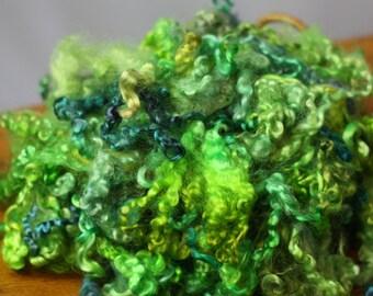 Kid Grade Mohair in Shades of Bright Celadon, Grass Green, Blue  1oz