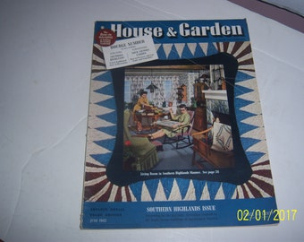 June 1942 House & Garden Magazine Section I Living Dining Rooms Southern Highlands Paper Ephemera