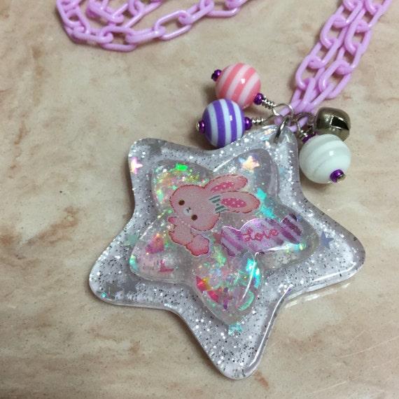Candy Bunny charm necklace