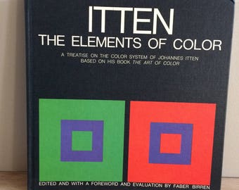 vintage ITTEN The Elements of Color Art Book from 1970