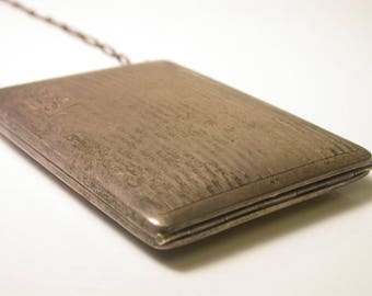Beautiful Sterling Silver Vintage Change Purse - Weight 102 Grams - Engraved LBR - Mini Purse # 870