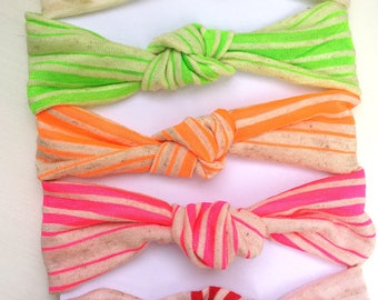 Neon stripes Blythe headband