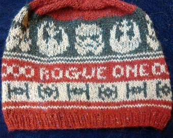 Rogue One Star Wars  Hand knitted Fairisle Hat