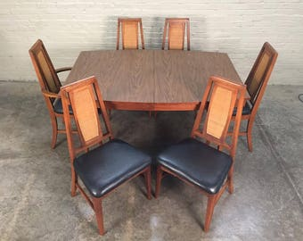 Mid-Century Modern Dining Room Table With 6-Chairs By Young MFG - Shipping NOT Included