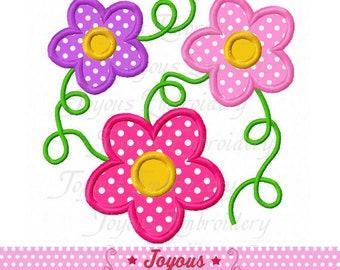 Instant Download Flowers Applique Machine Embroidery Design NO:2314