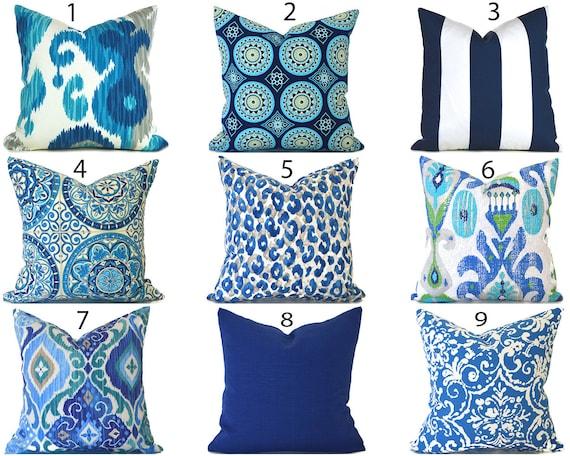Blue Outdoor Pillows ANY SIZE Outdoor Cushions Outdoor Pillow #1: il 570xN kgoa