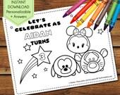 Tsum Tsum Party Activity Book, Tsum Tsum Coloring Pages, Tsum Tsum Party Favors, Tsum Tsum Birthday Activity, Tsum Tsum Party Games