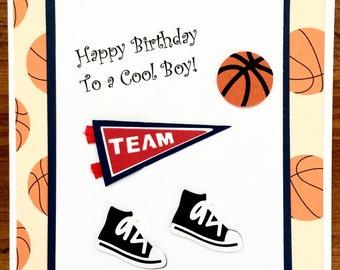 items similar to exploding box basketball card, basketball, Birthday card