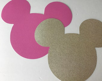 2- Mickey Minnie Mouse red Glitter Placemat