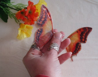 Orange Leopard Fairy Wings