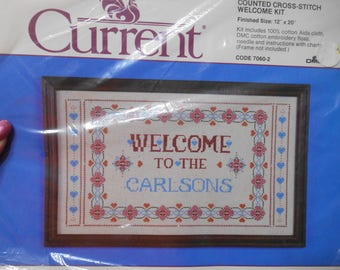 Counted Cross-Stitch Welcome Kit