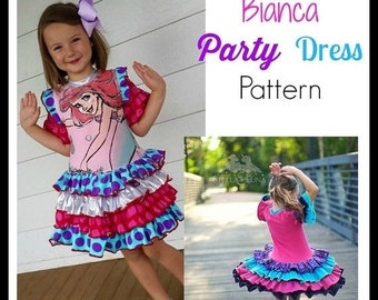 30% OFF Sale Bianca Party Dress PDF Sewing Pattern Girls Pageant Upcycle Pattern Sizes 6-12m to 12 Instant Download Little4Awhile Video Tuto