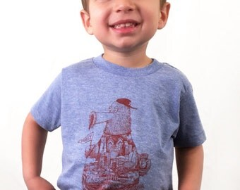 FREE SHIPPING -- YOUTH Philadelphia Phanatic -- Paul Carpenter Art -- Toddler and Childrens Philly Tee Shirt