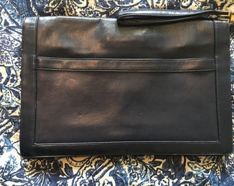 Leather clutch bag from Italy