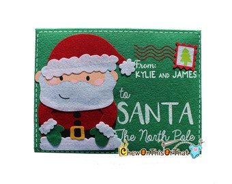 Personalized Extra Large Green Letter To Santa Envelope, Dear Santa Letter, Thank You Gift Note, Night Before Christmas, Family Traditions
