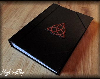 Journal Book of Shadows CHARMED DARK with Triquetra symbol - BIG size 31x22 cm ( 12,61x8,27 inch )