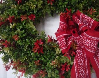 Christmas wreath, christmas boxwood wreath, boxwood wreath, christmas decoration, holiday wreath, holiday boxwood wreath, holiday decoration