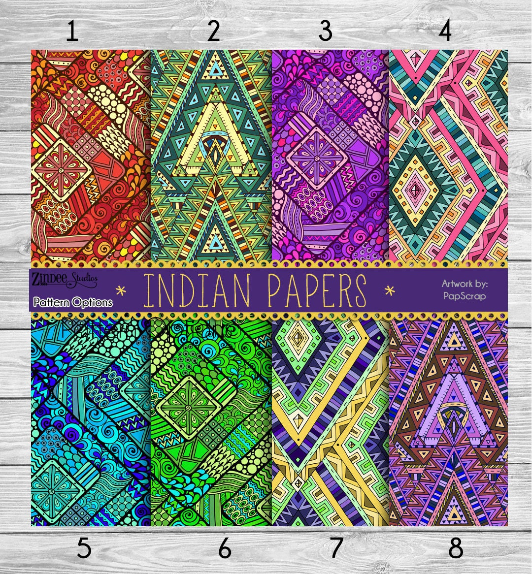 Printed Vinyl Indian Patterns Adhesive Vinyl Heat Transfer