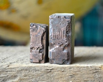 Ships Free - Spanish American War Veteran's Medal Copper Letterpress Printer Blocks / War Memorabilia / 1899-1902 Spanish War