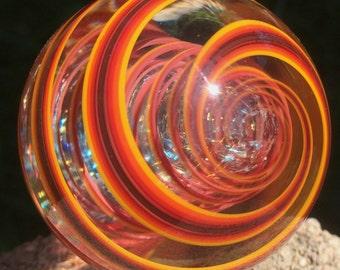 Dichroic Galaxy Core Swirl Marble