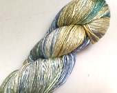 50% Off Mulberry Silk Worsted Yarn 100 g 225 Yards Himalayan Blues Greens Golds