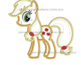 Applejack - My LIttle Pony Embroidery Design