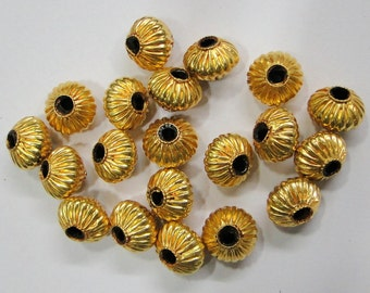 Vintage handmade 22K Gold jewelry beads set of 20 pieces rajasthan india
