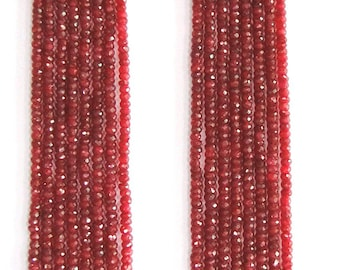 752 CT 8 Strand Natural Ruby Gemstone Beads Necklace