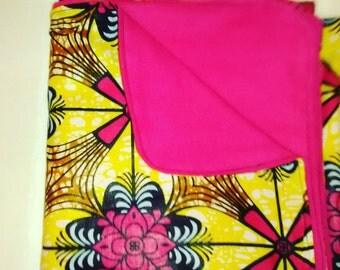 African Print Receiving Blanket